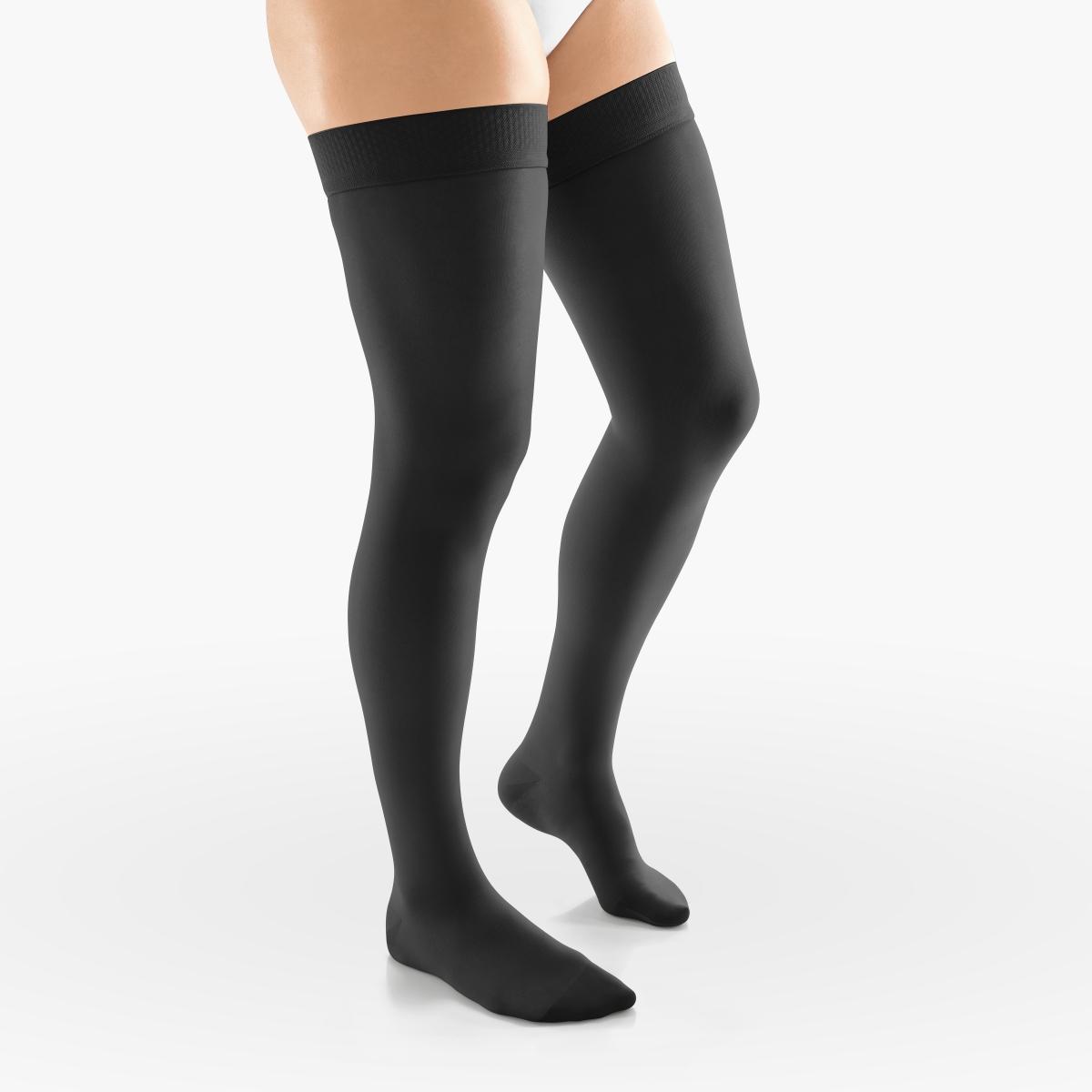 VENOSAN Sheer Secrets, Thigh High 15-20, Classic black, S, Closed Toe Moderate 15-20 mmHg | Classic black | S |  | Closed Toe | Knit Top