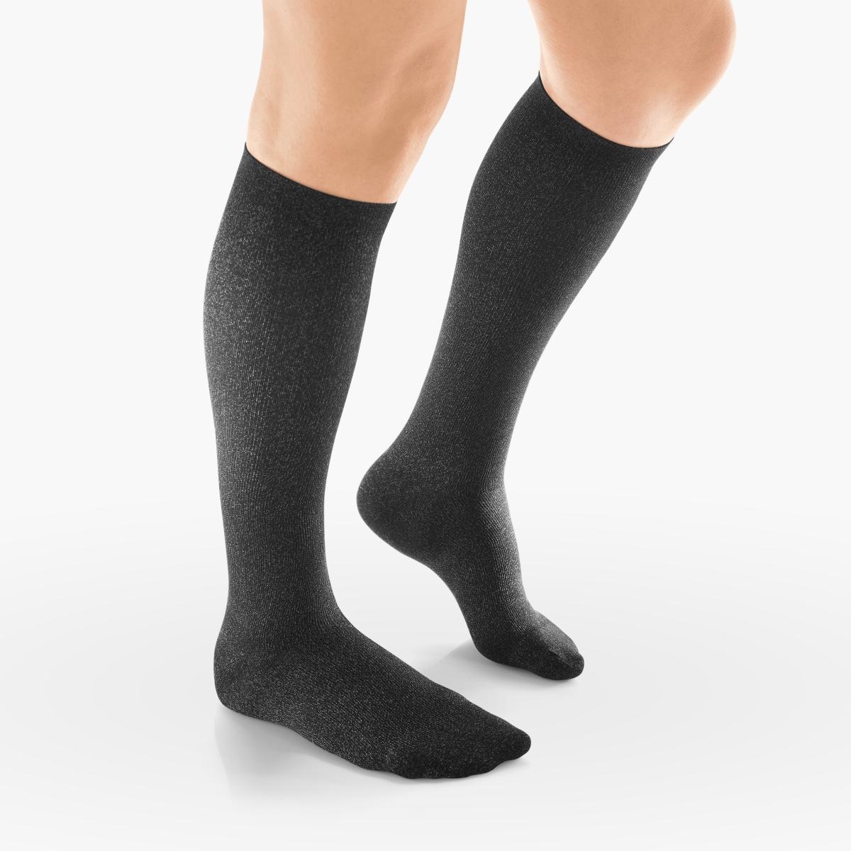 VENOSAN Silverline F Women, Below Knee 20-30, Black, S, Firm 20-30 mmHg | Black | S |  | Closed Toe | Knit Top