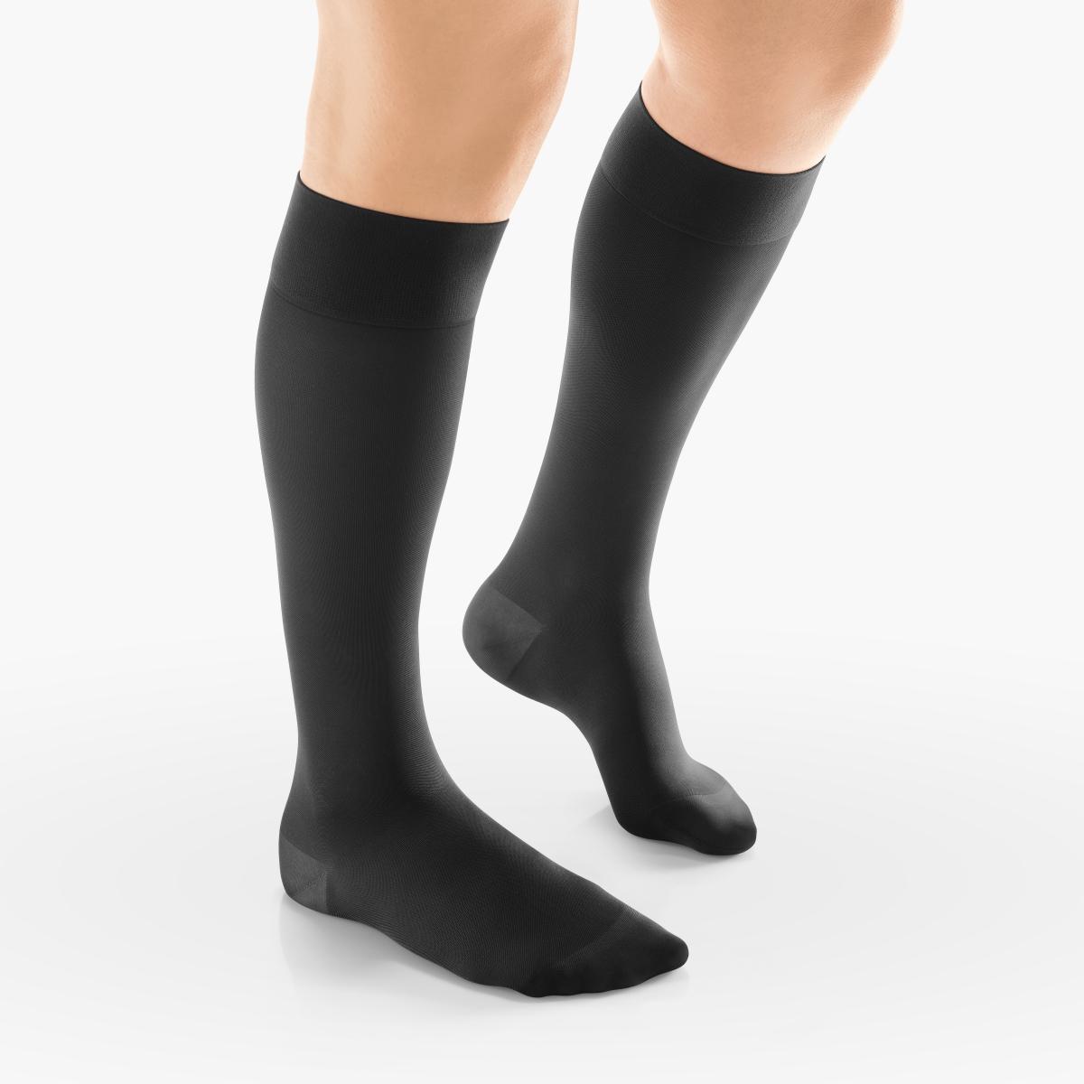 VENOSAN Sup F Women, Classic, Below Knee 15-20, Black, S/M, Regular Moderate 15-20 mmHg | Black | S/M | Regular | Closed Toe | Knit Top