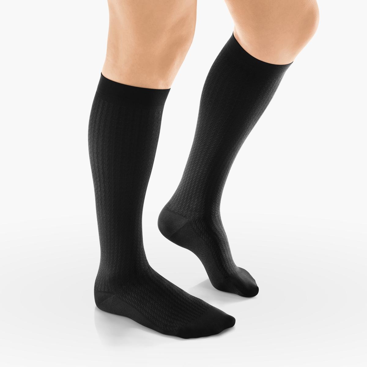 VENOSAN Sup F Women, Chain P, Below Knee 15-20, Black, S, Moderate 15-20 mmHg   Black   S      Closed Toe   Knit Top