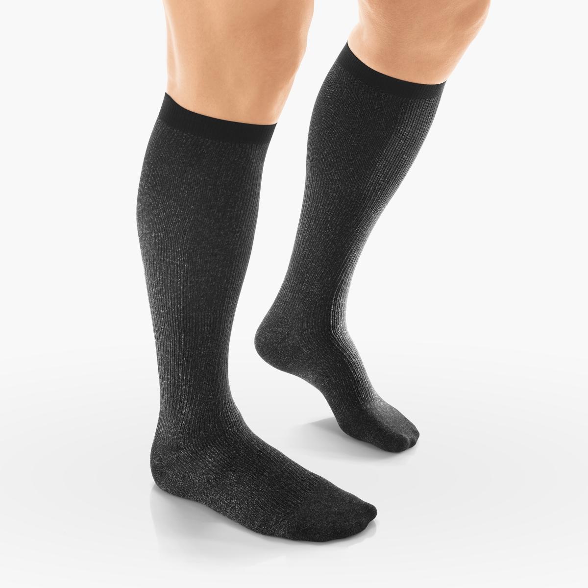 VENOSAN Silverline F Men, Below Knee 20-30, Black, S, Firm 20-30 mmHg | Black | S |  | Closed Toe | Knit Top