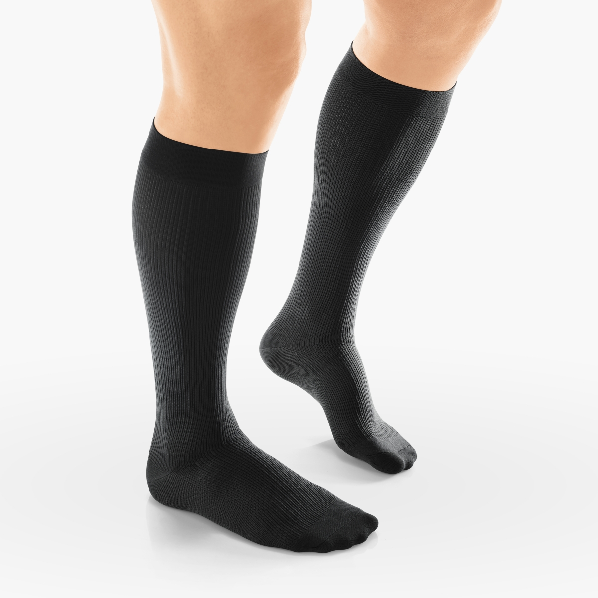 VENOSAN Sup F Men, Business, Below Knee 20-30, Black, M Firm 20-30 mmHg | Black | M |  | Closed Toe | Knit Top